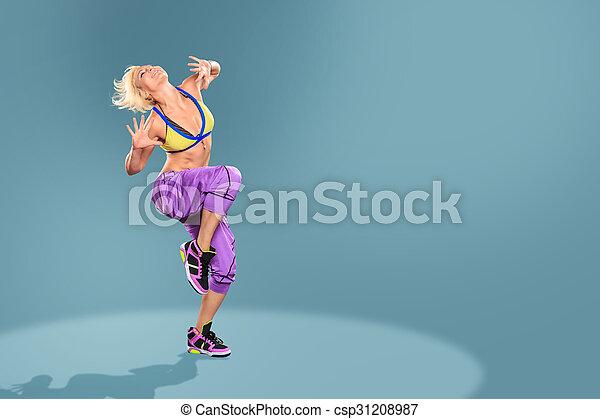 aerobics girl - csp31208987