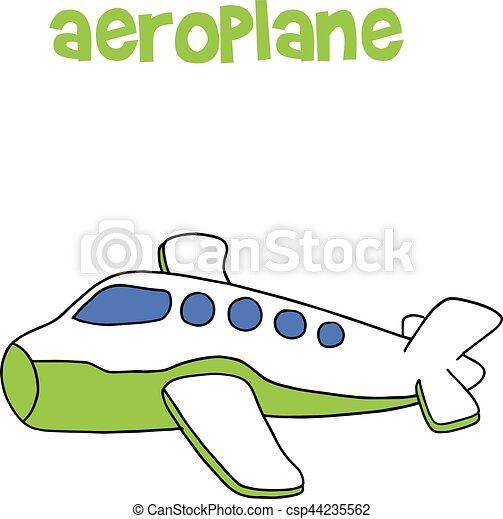 Aeroplane Cartoon Vector Art Illustration