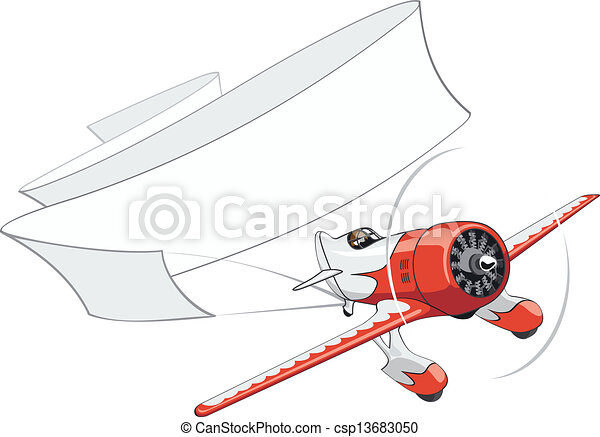 aeroplano, bandiera, retro, vuoto - csp13683050