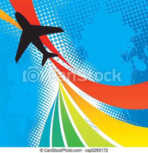 aeroplano, viaggiare, astratto - csp5260172