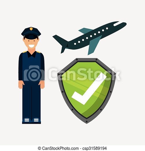aeroport końcowy, projektować - csp31589194