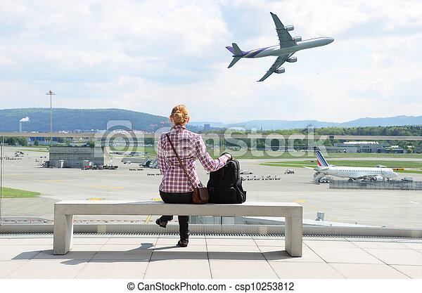aeroporto, scena - csp10253812