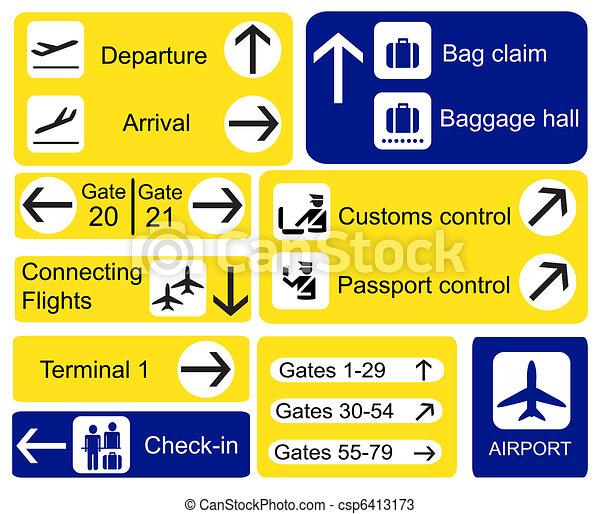 aeroporto, segni - csp6413173