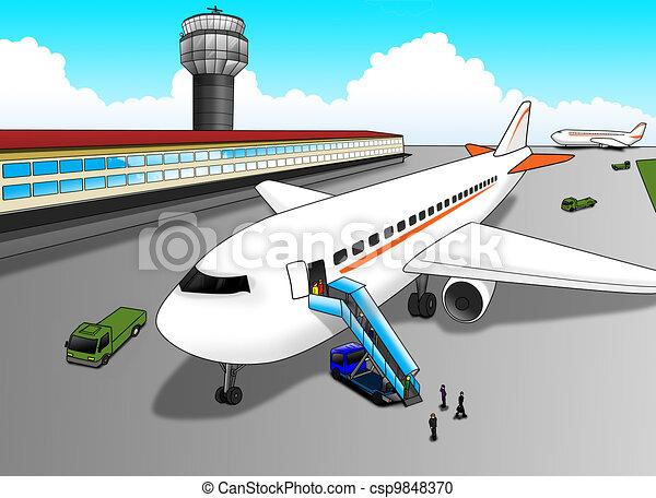Aeropuerto - csp9848370