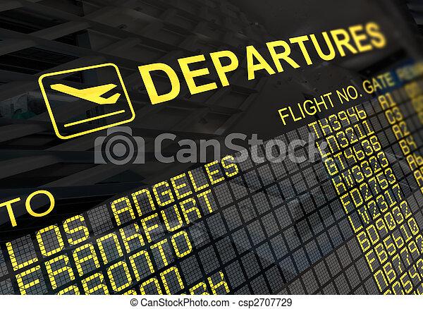 Junta de salidas del aeropuerto internacional - csp2707729
