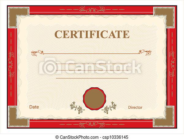 afdrukken, vect, diploma, certificaat - csp10336145