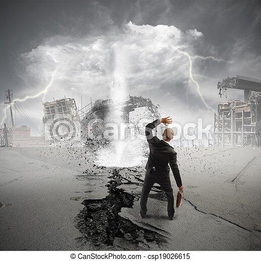 affär, kris, oväder - csp19026615