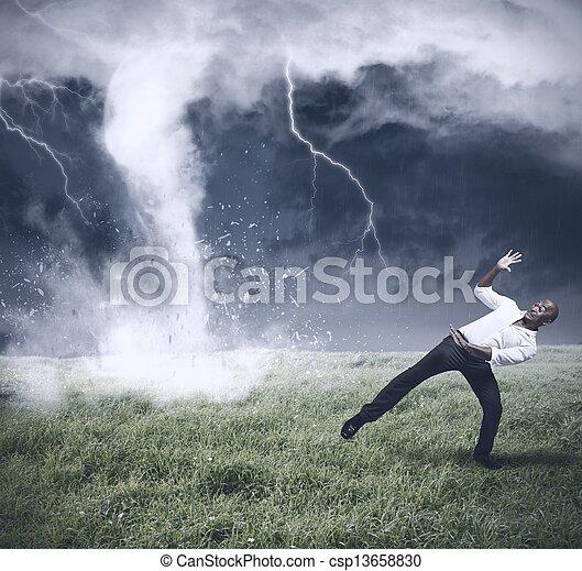 affär, kris, oväder - csp13658830