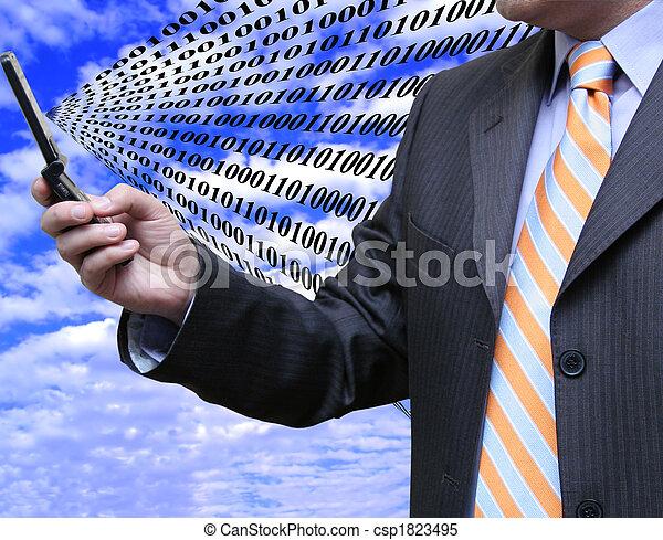 affärsman, mottagande, data - csp1823495