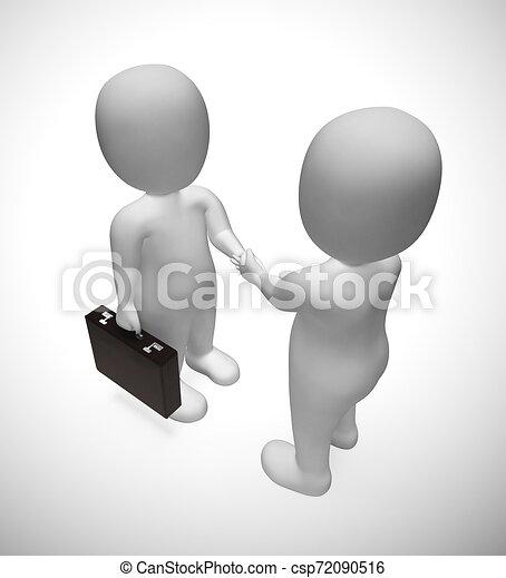 affaire, -, accord, illustration, hommes affaires, mains secouer, ou, 3d - csp72090516