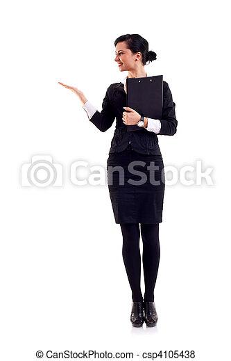 affaires femme, présentation - csp4105438