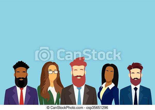 affaires gens, businesspeople, équipe, groupe, divers - csp35651296