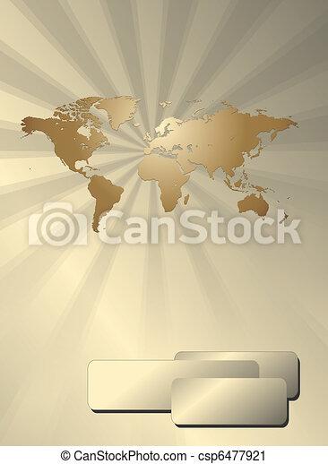 affaires mondiales, fond, carte - csp6477921