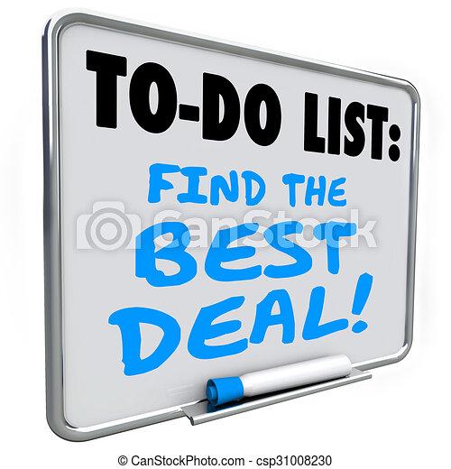 affare, elenco, vendita, risparmi, asse, messaggio, trovare, meglio - csp31008230