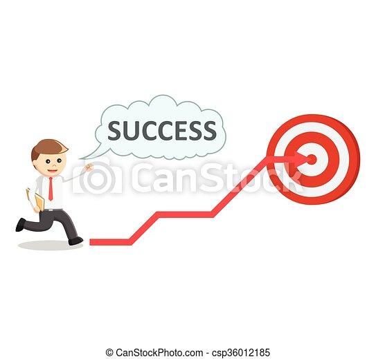 affari, bersaglio, successo, uomo - csp36012185