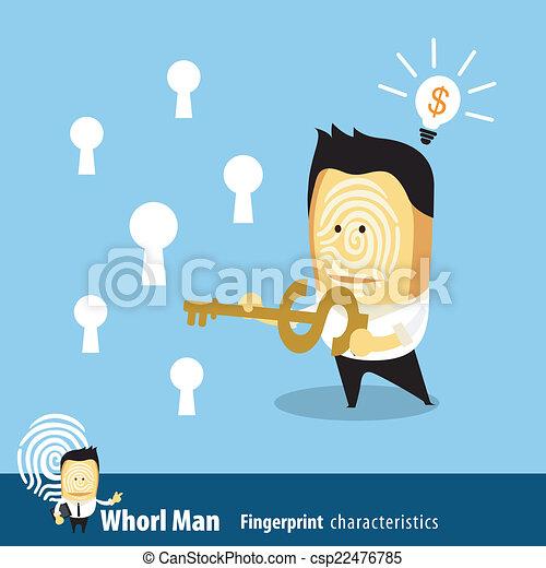 affari, chiave, uomo - csp22476785