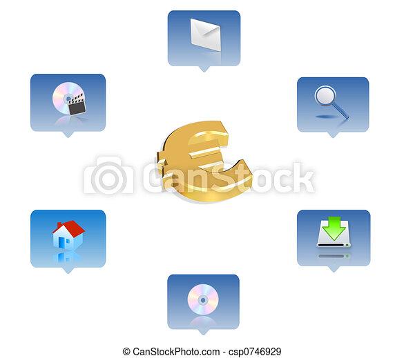 affari, icona - csp0746929