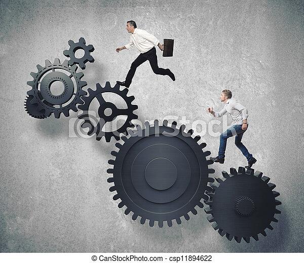 affari, meccanismo, sistema - csp11894622