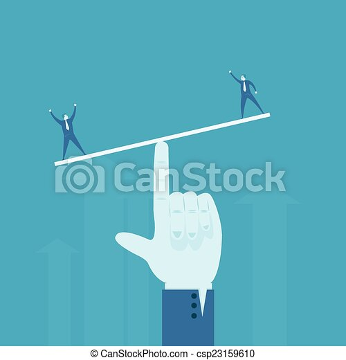 affari, peso, uomo tester - csp23159610