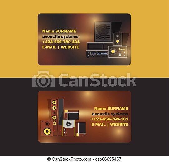 affari-scheda, elettronico, tecnologia, sistema, apparecchiatura, playback, musica, dj, basso, illustrazione affari, studio, fondo, scheda, suono, stereo, cuffie, sound-record, vettore, acustico, audio, fondale - csp66635457