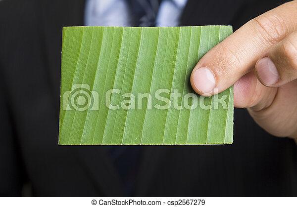 affari verdi, scheda - csp2567279
