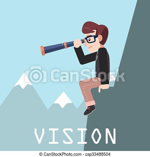 affari, visione, uomo - csp33488504