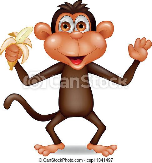 Affe mit Banane - csp11341497