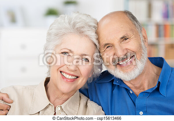 Affectionate happy retired couple - csp15613466
