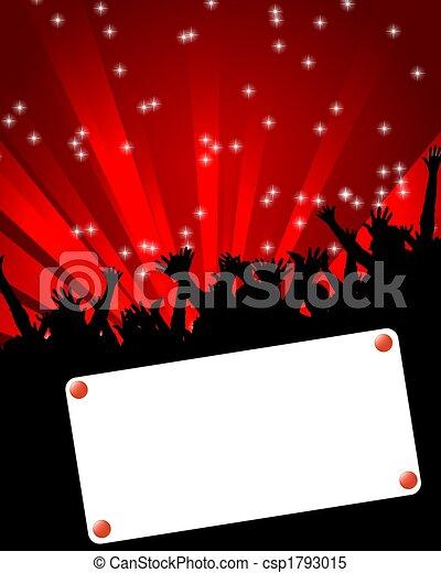 affiche, événement, danse - csp1793015