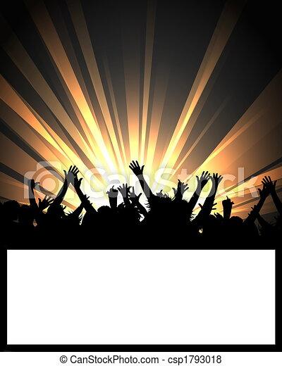 affiche, événement, danse - csp1793018