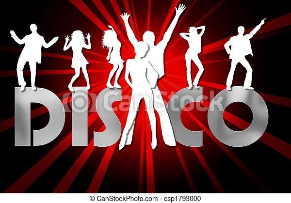 affiche, coloré, disco - csp1793000