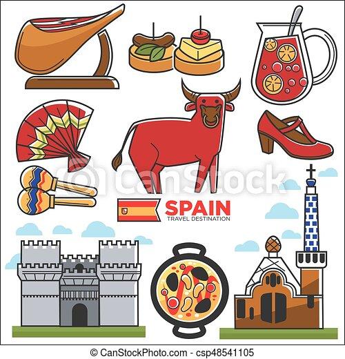 Affiche destination voyage douane illustrations clipart vectoriel rechercher - Dessin espagne ...