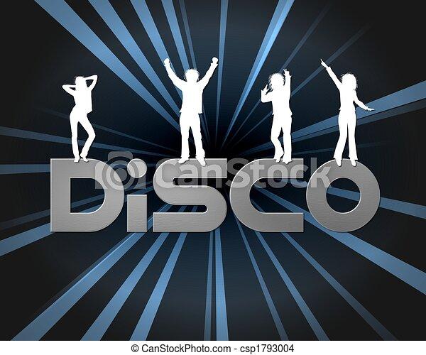 affiche, disco - csp1793004