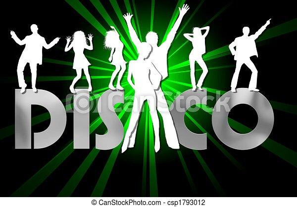affiche, illustration, coloré, disco - csp1793012