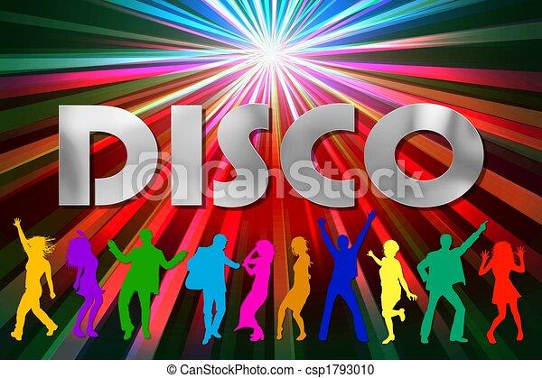 affiche, illustration, coloré, disco - csp1793010