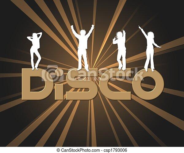 affiche, illustration, coloré, disco - csp1793006