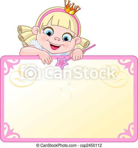 affiche, inviter, princesse, ou - csp2450112