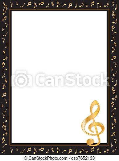 affiche, musique - csp7652133