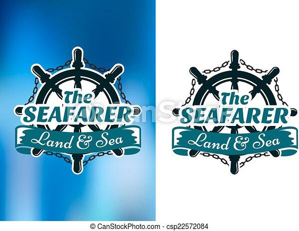 affiche, nautique, seafarer, themed - csp22572084