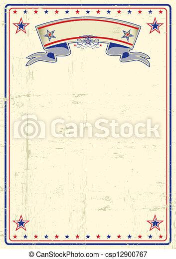 affiche, sale, usa - csp12900767