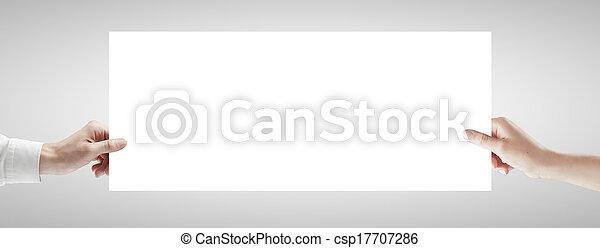 affiche, tenant mains - csp17707286