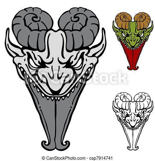 affilato, lingua, demone - csp7914741