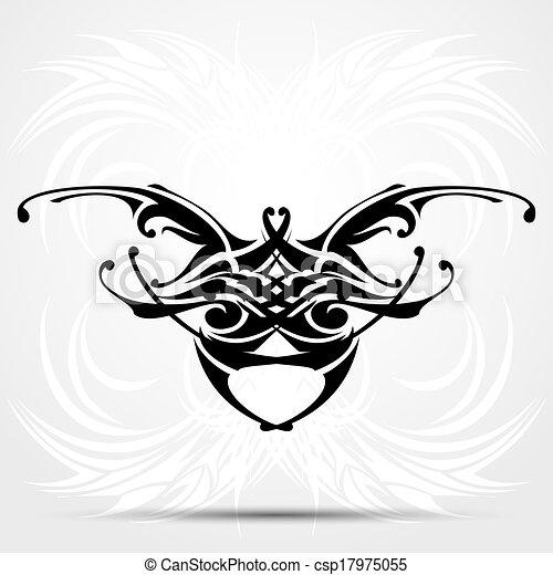 affilato, tribale, tatuaggio - csp17975055