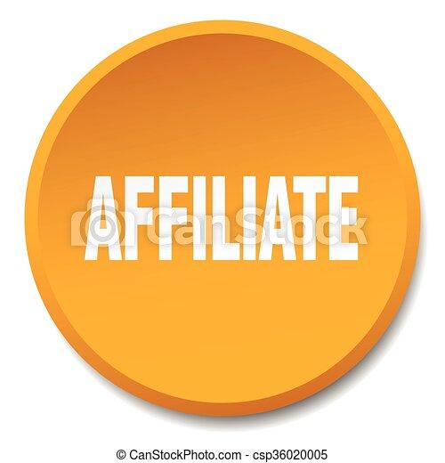 affiliate orange round flat isolated push button - csp36020005