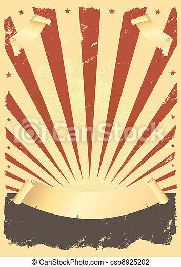 affisch, amerikan, grunge - csp8925202