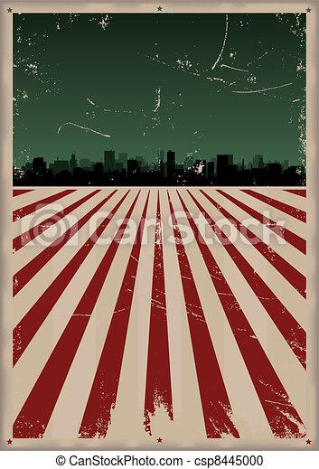 affisch, amerikan, grunge - csp8445000