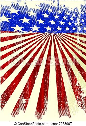 affisch, amerikan, kylig - csp47278907