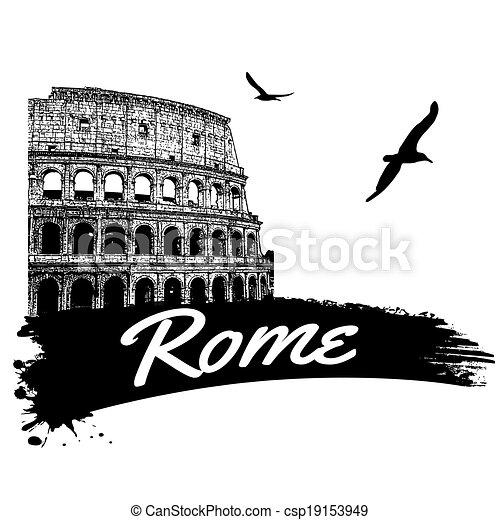 affisch, rom - csp19153949