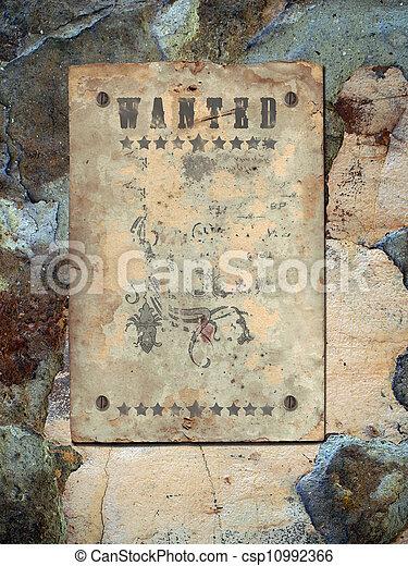 affisch, viljat - csp10992366