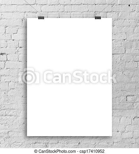 affisch, vit - csp17410952